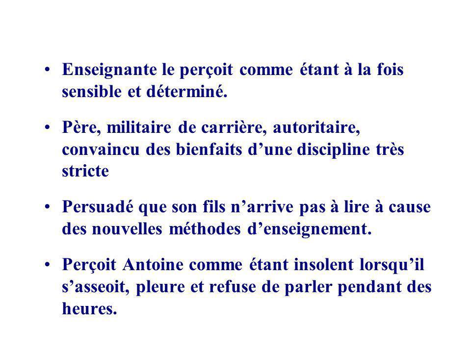 Objectifs découlant du deuxième but 1.Antoine participera aux activités de la classe.