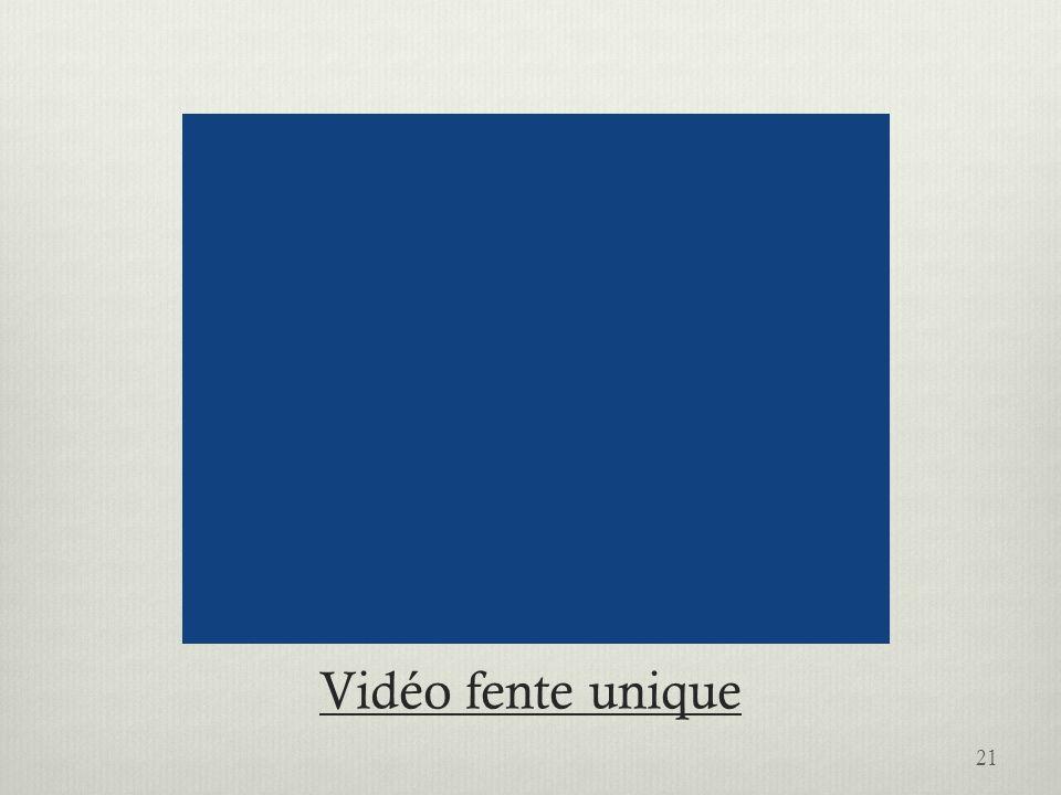 Vidéo fente unique 21