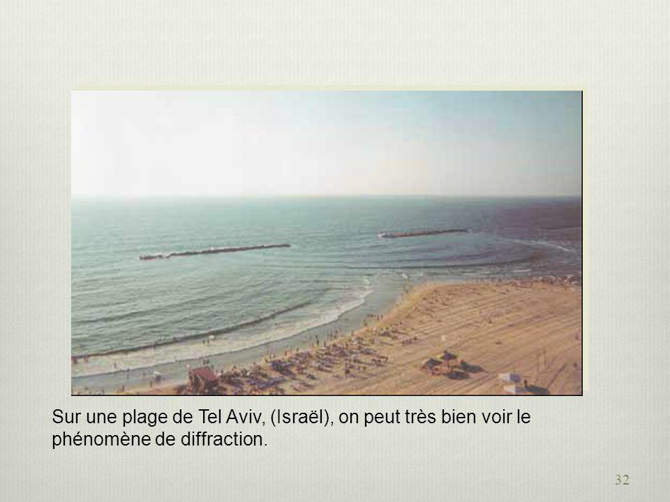 32 Sur une plage de Tel Aviv, (Israël), on peut très bien voir le phénomène de diffraction.