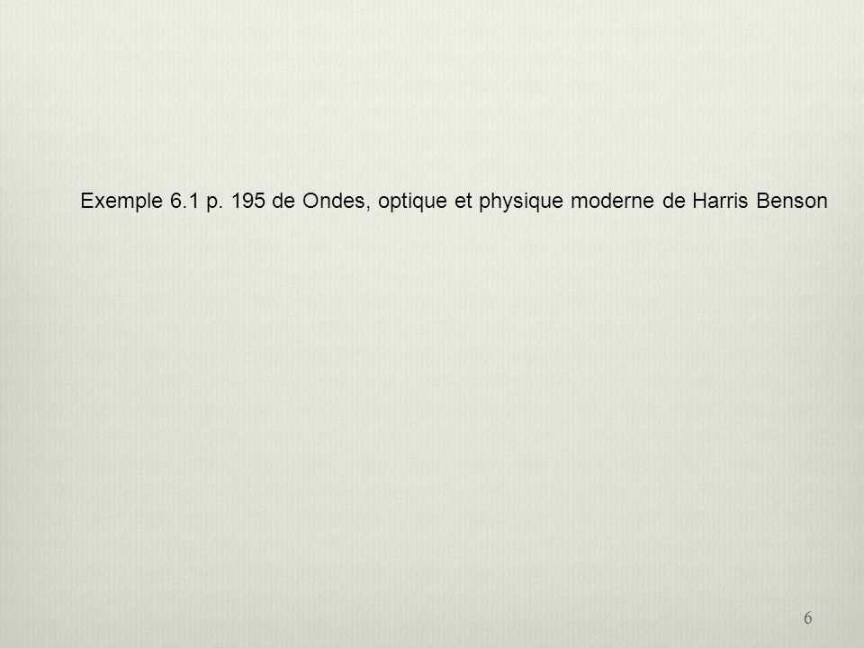 La position du premier minimum sur lécran 27 Écran Pour des petits angles: La position du premier minimum: Ainsi, le premier minimum se retrouve à une distance y du centre de lécran: