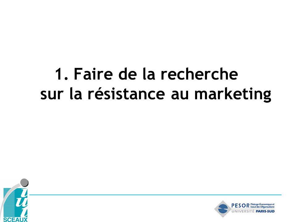 1.Faire de la recherche sur la résistance au marketing