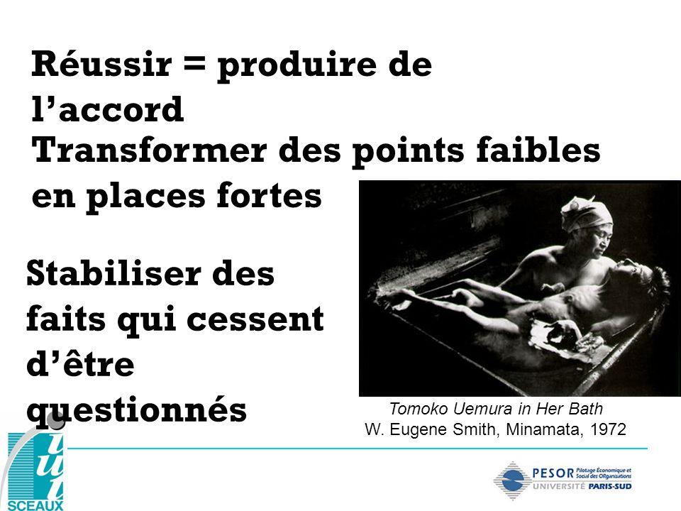 Stabiliser des faits qui cessent dêtre questionnés Réussir = produire de laccord Tomoko Uemura in Her Bath W. Eugene Smith, Minamata, 1972 Transformer