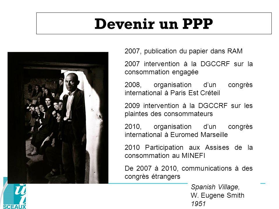 Devenir un PPP Spanish Village, W. Eugene Smith 1951 2007, publication du papier dans RAM 2007 intervention à la DGCCRF sur la consommation engagée 20