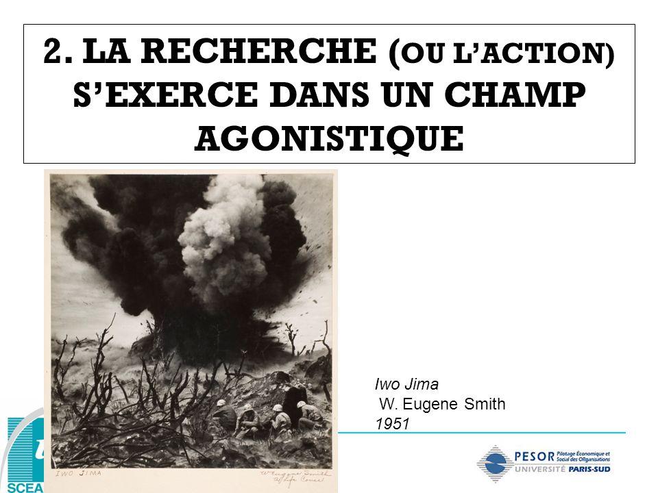 2. LA RECHERCHE ( OU LACTION) SEXERCE DANS UN CHAMP AGONISTIQUE Iwo Jima W. Eugene Smith 1951