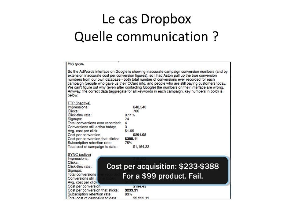 Le cas Dropbox Quelle communication ?