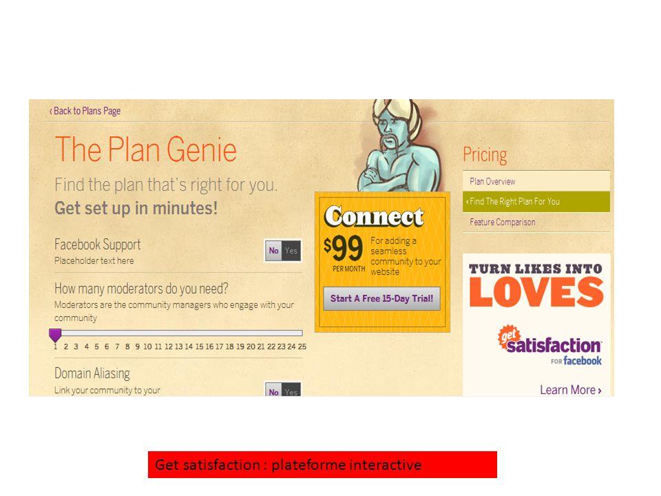 Get satisfaction : plateforme interactive