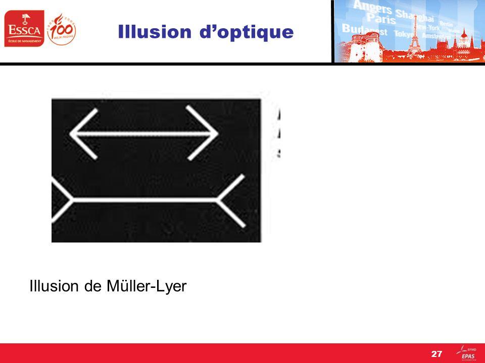 Illusion doptique Illusion de Müller-Lyer 27