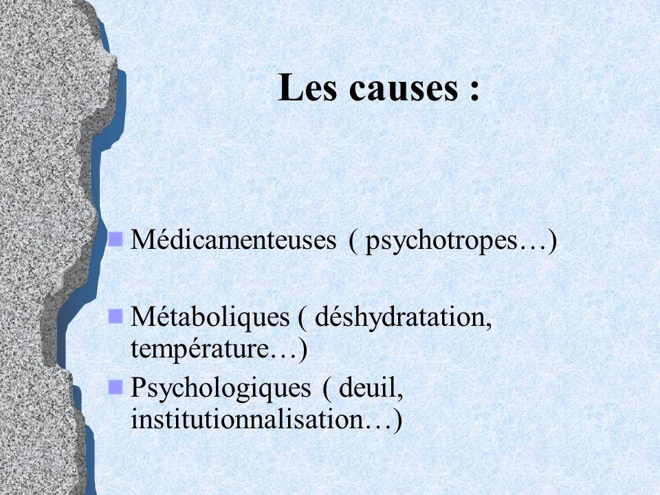 troubles psycho-comportementaux Conditions environnementales favorisant un état dagitation