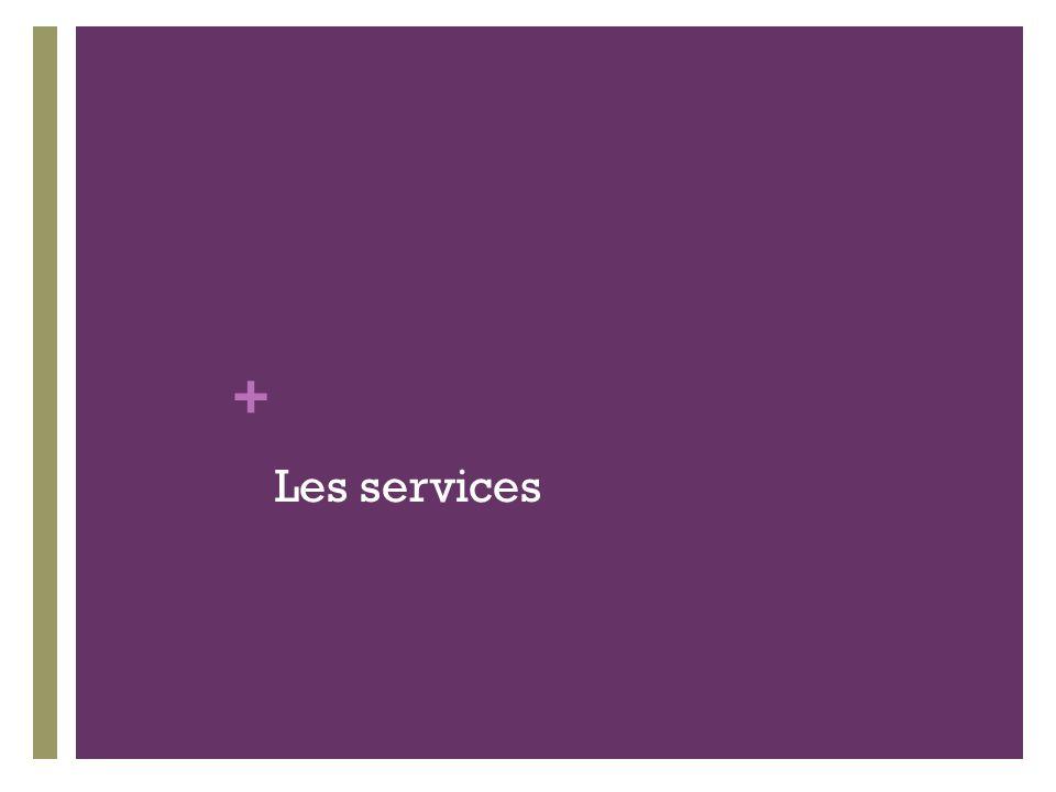 + Les services