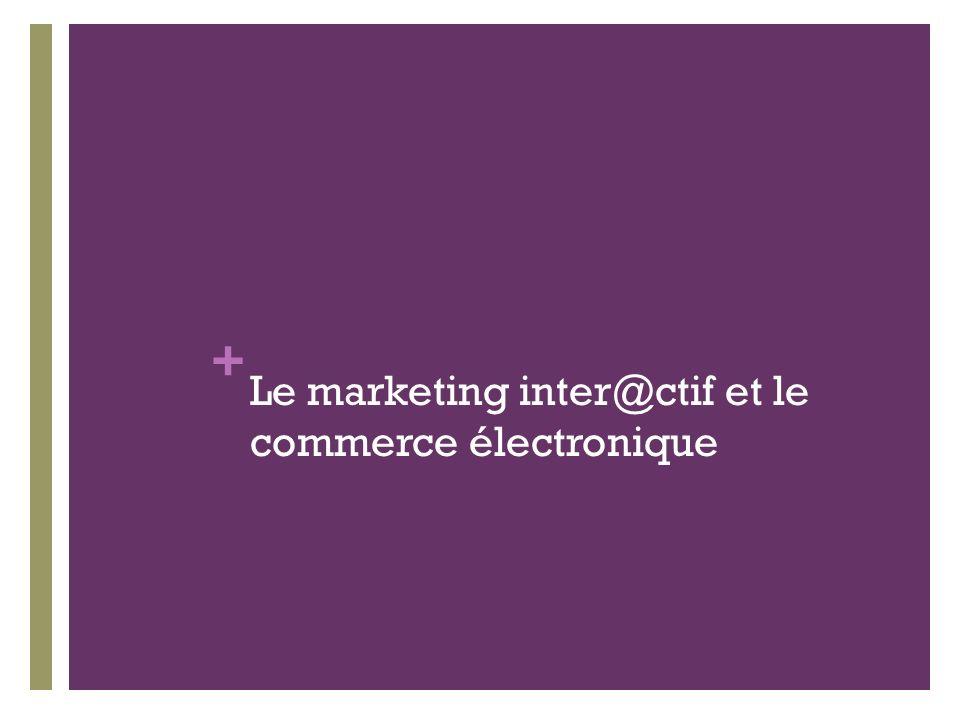 + Le marketing inter@ctif et le commerce électronique