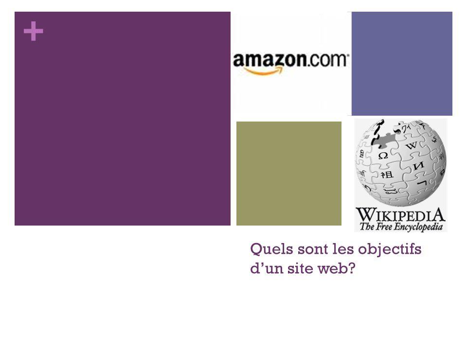 + Quels sont les objectifs dun site web?