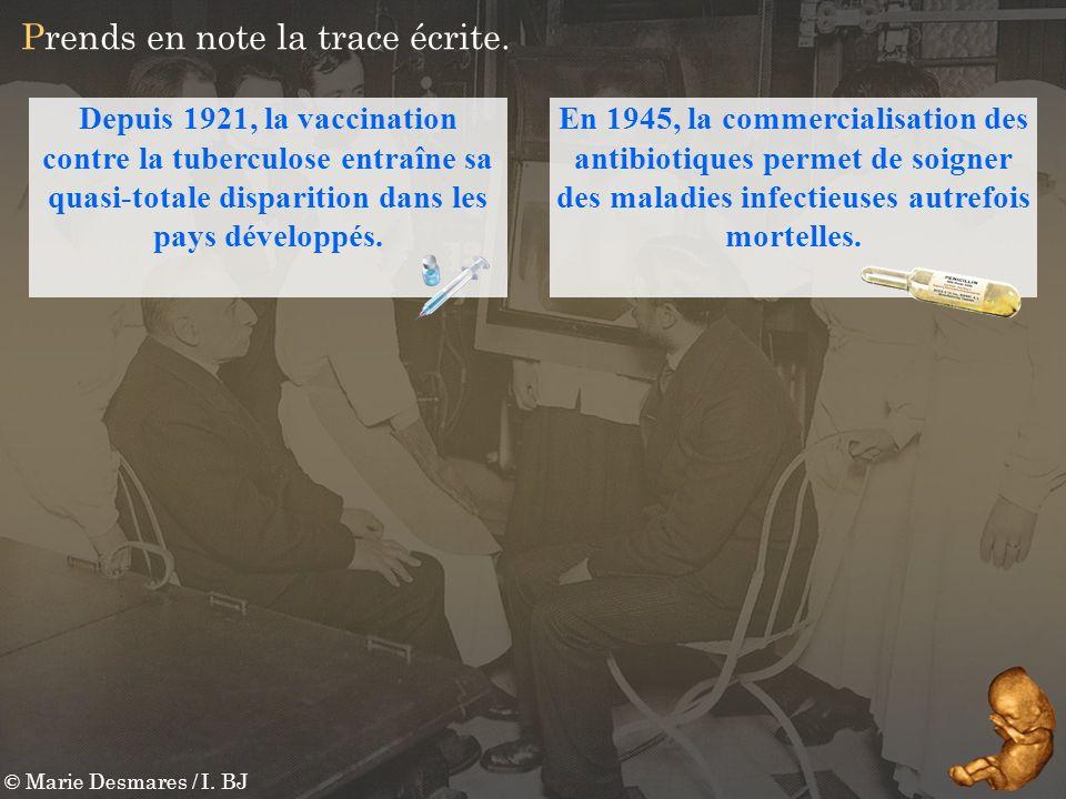 © Marie Desmares / I. BJ Prends en note la trace écrite. Depuis 1921, la vaccination contre la tuberculose entraîne sa quasi-totale disparition dans l