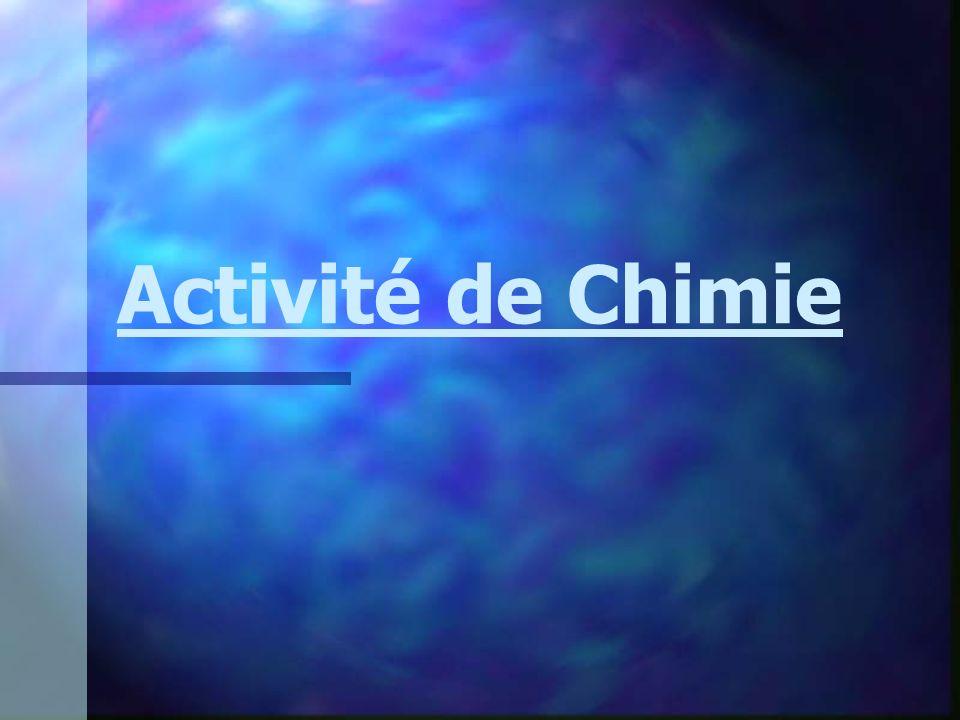 Activité de Chimie