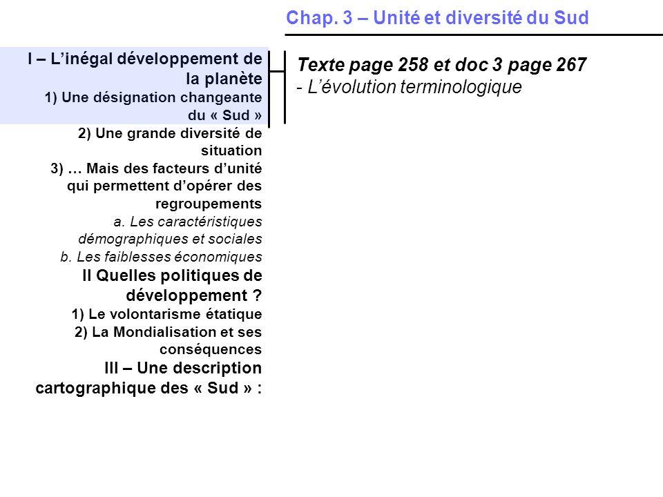 IV – Les contrastes spatiaux dun pays émergent en plein développement : le Brésil 1)Le développement ne gomme pas les inégalités, loin de là a.