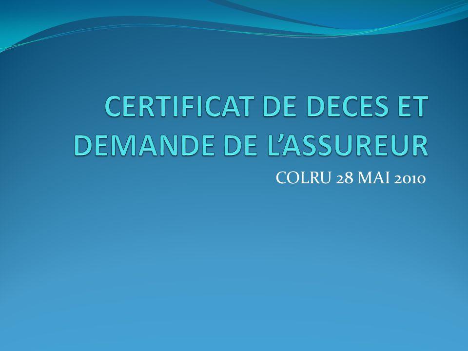 GENERALITE 1 LINFORMATION MEDICALE EST NECESSAIRE A LASSUREUR Pour lévaluation du risque dans létablissement des contrats Pour lapplication du contrat.