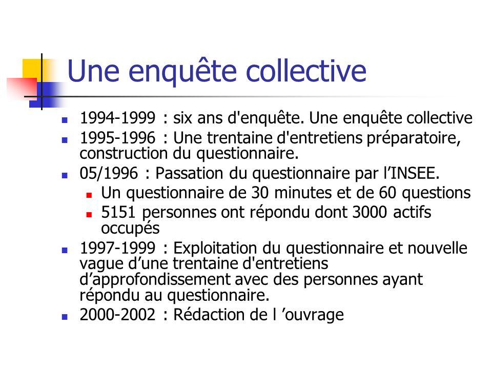 Une enquête collective 1994-1999 : six ans d enquête.