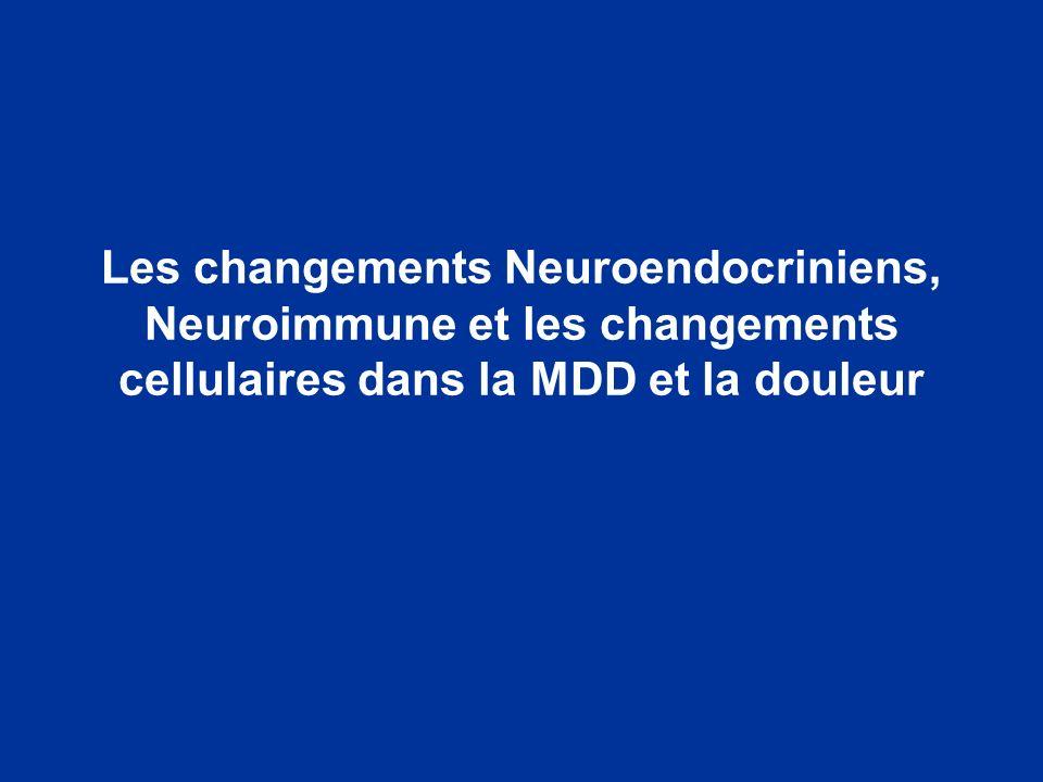 Les changements Neuroendocriniens, Neuroimmune et les changements cellulaires dans la MDD et la douleur