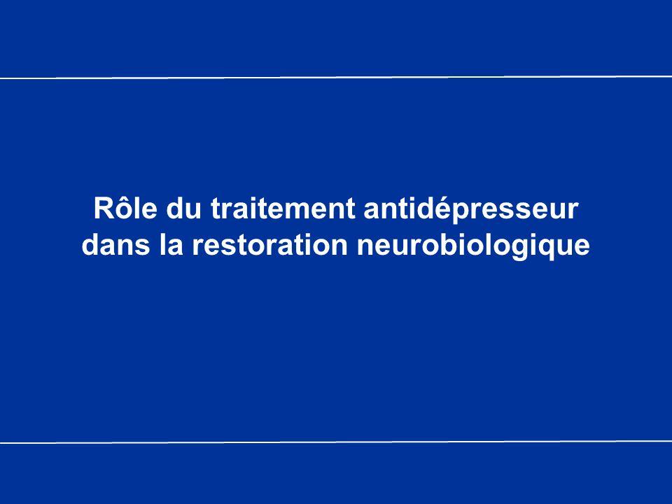 Rôle du traitement antidépresseur dans la restoration neurobiologique