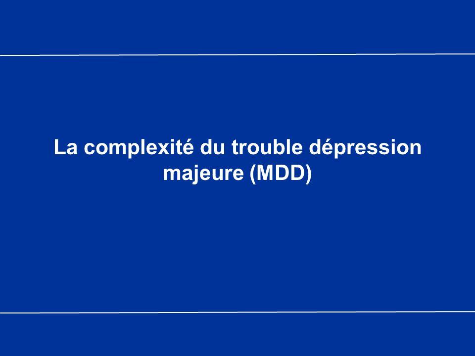 La complexité du trouble dépression majeure (MDD)