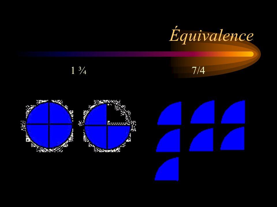Equivalence 1 ¾ 7/4