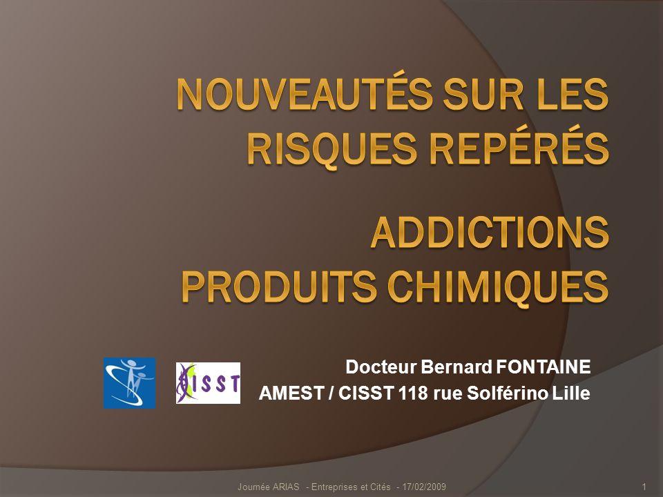 Docteur Bernard FONTAINE AMEST / CISST 118 rue Solférino Lille Journée ARIAS - Entreprises et Cités - 17/02/20091