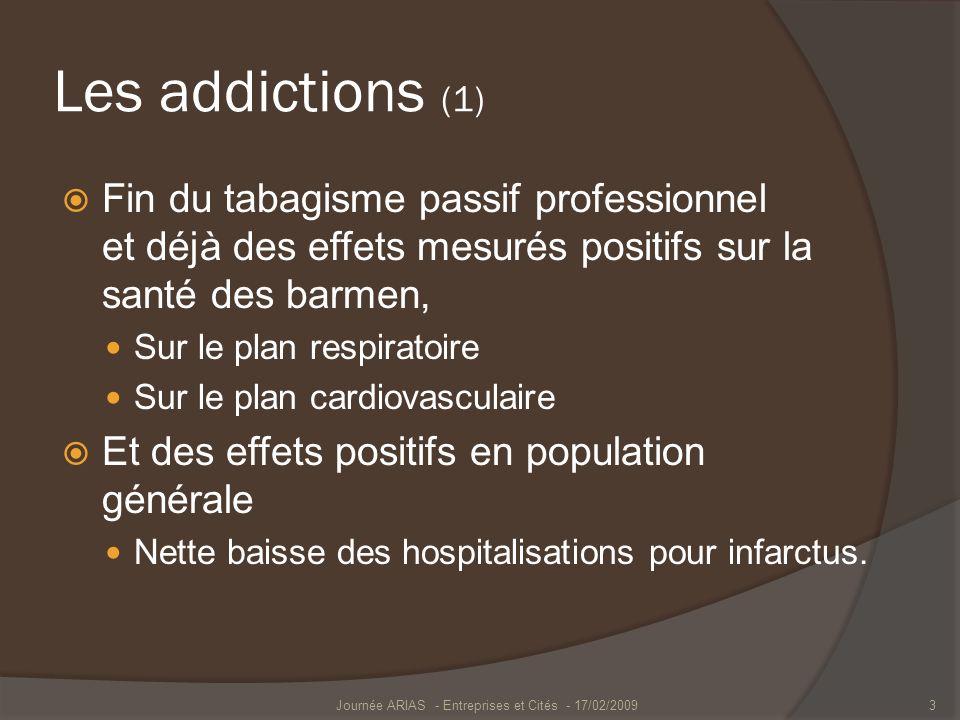 Les addictions (1) Fin du tabagisme passif professionnel et déjà des effets mesurés positifs sur la santé des barmen, Sur le plan respiratoire Sur le