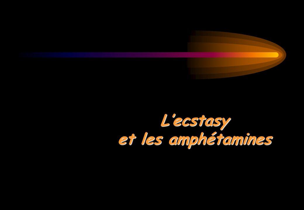 Lecstasy et les amphétamines