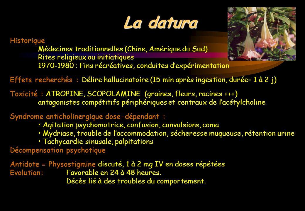 Historique Médecines traditionnelles (Chine, Amérique du Sud) Rites religieux ou initiatiques 1970-1980 : Fins récréatives, conduites dexpérimentation