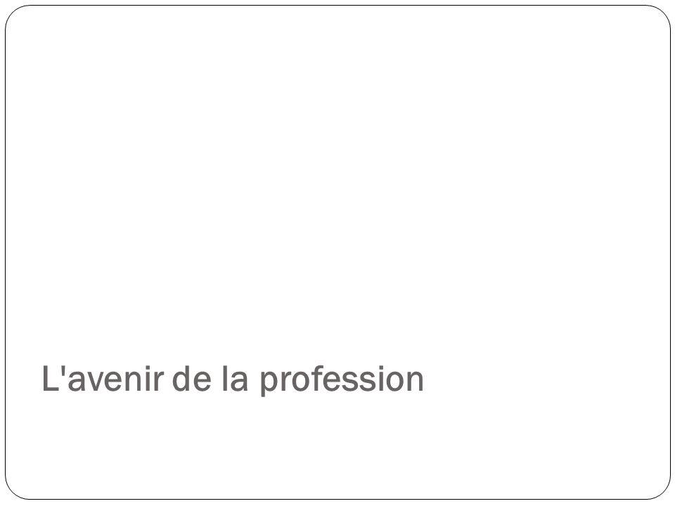 L'avenir de la profession