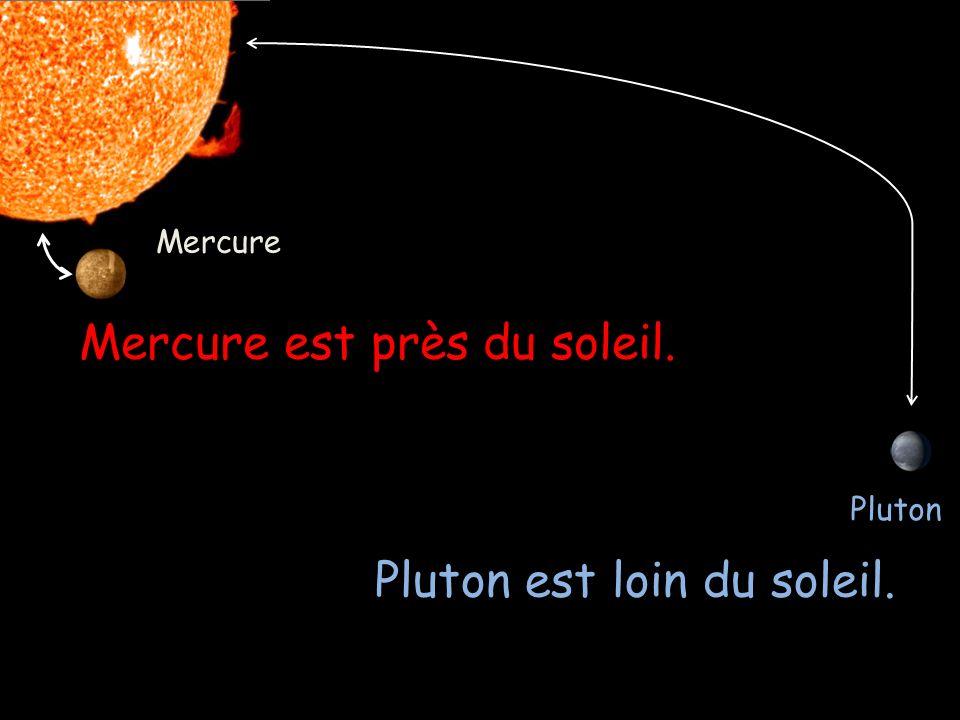 Here are the planets in order: Mercure Vénus La Terre Mars Jupiter Saturne Uranus Neptune Pluton*