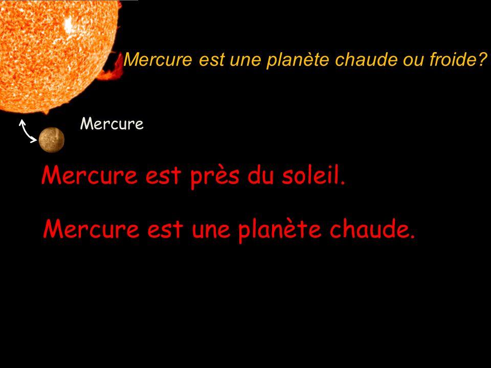 Mercure Mercure est une planète chaude. Le Soleil – il fait chaud. What do you notice about the spelling? Why do you think this is? Thats right – Merc