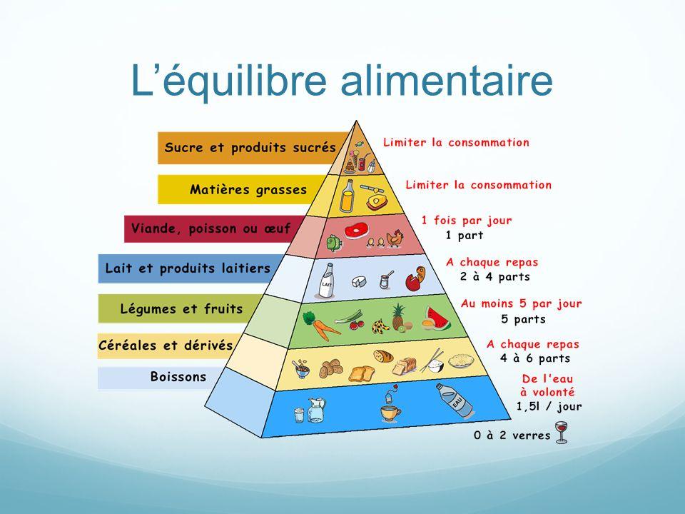 Les équilibres essentiels Les besoins alimentaires diffèrent selon lâge, la taille, le poids, le sexe, lactivité physique.