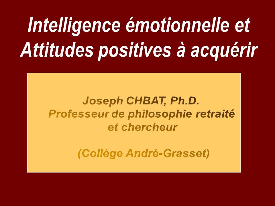 Intelligence émotionnelle et Attitudes positives à acquérir