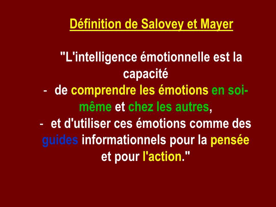 Définition de Salovey et Mayer