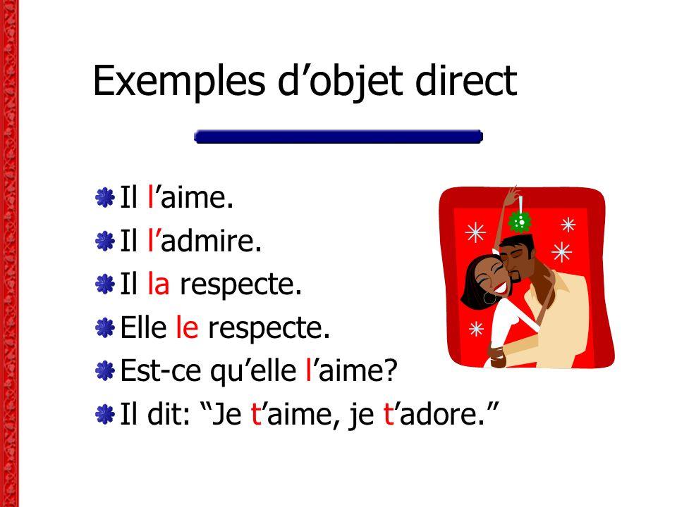 L objet indirect dun verbe Laction du verbe passe à lobjet direct sans préposition (= directement) Lobjet indirect dun verbe est généralement une personne.