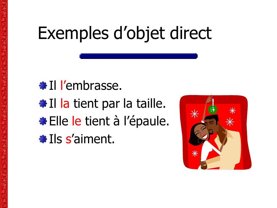 Répondez aux questions en utilisant des pronoms pour remplacer les noms en rouge .