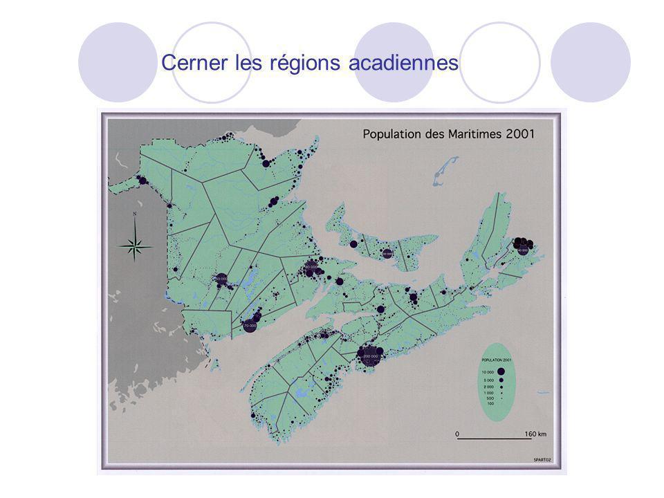 Cerner les régions acadiennes