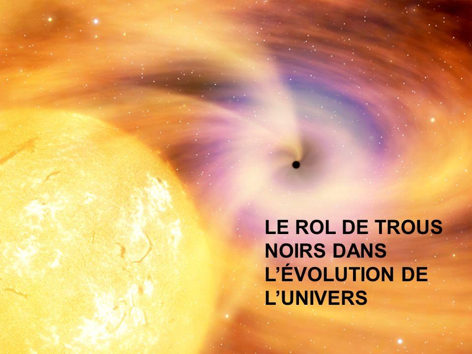 LE ROL DE TROUS NOIRS DANS LÉVOLUTION DE LUNIVERS