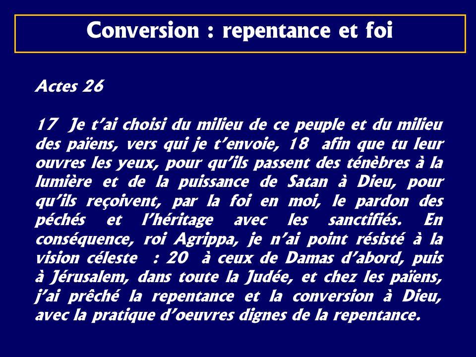 Actes 26 17 Je tai choisi du milieu de ce peuple et du milieu des païens, vers qui je tenvoie, 18 afin que tu leur ouvres les yeux, pour quils passent