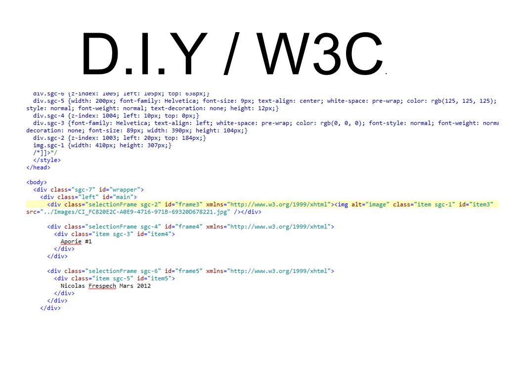 D.I.Y / W3C.