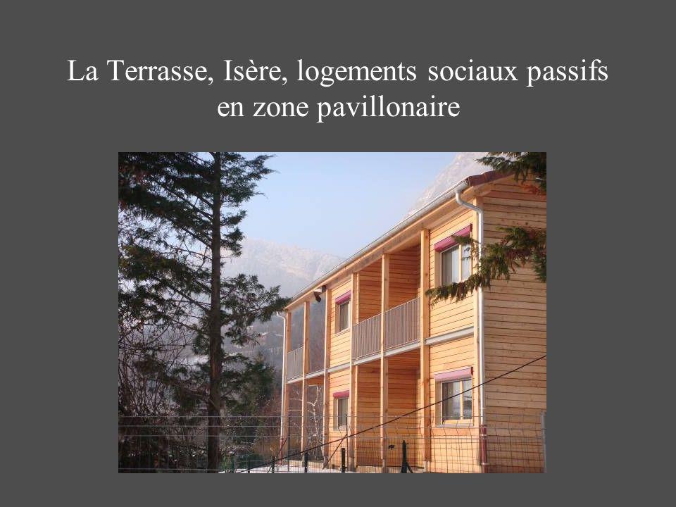 La Terrasse, Isère, logements sociaux passifs en zone pavillonaire