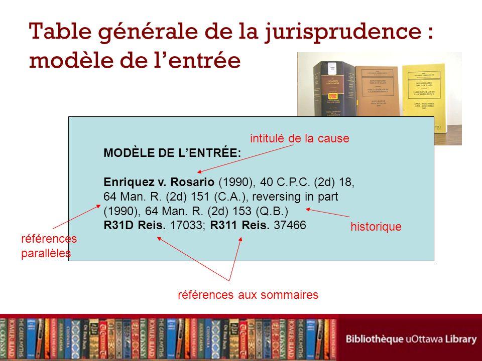 MODÈLE DE LENTRÉE: Enriquez v. Rosario (1990), 40 C.P.C. (2d) 18, 64 Man. R. (2d) 151 (C.A.), reversing in part (1990), 64 Man. R. (2d) 153 (Q.B.) R31