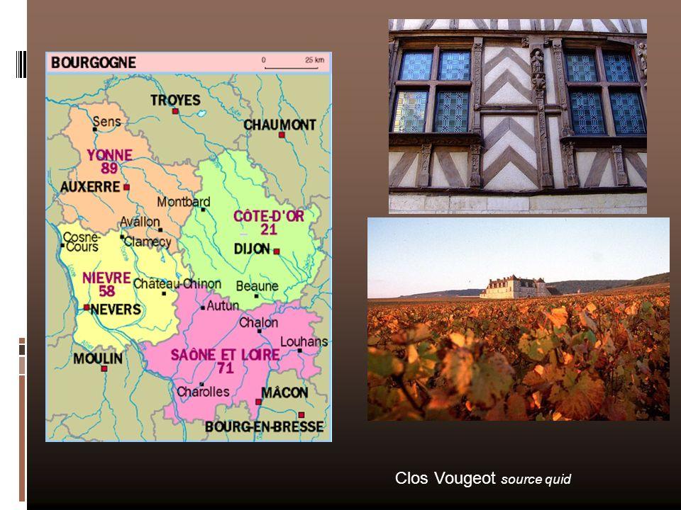 Les produits marqueurs Le bœuf charolais Le pain dépice Lescargot de Bourgogne la crème de cassis de Dijon Le vinaigre Anis de Flavigny Truffe de Bourgogne