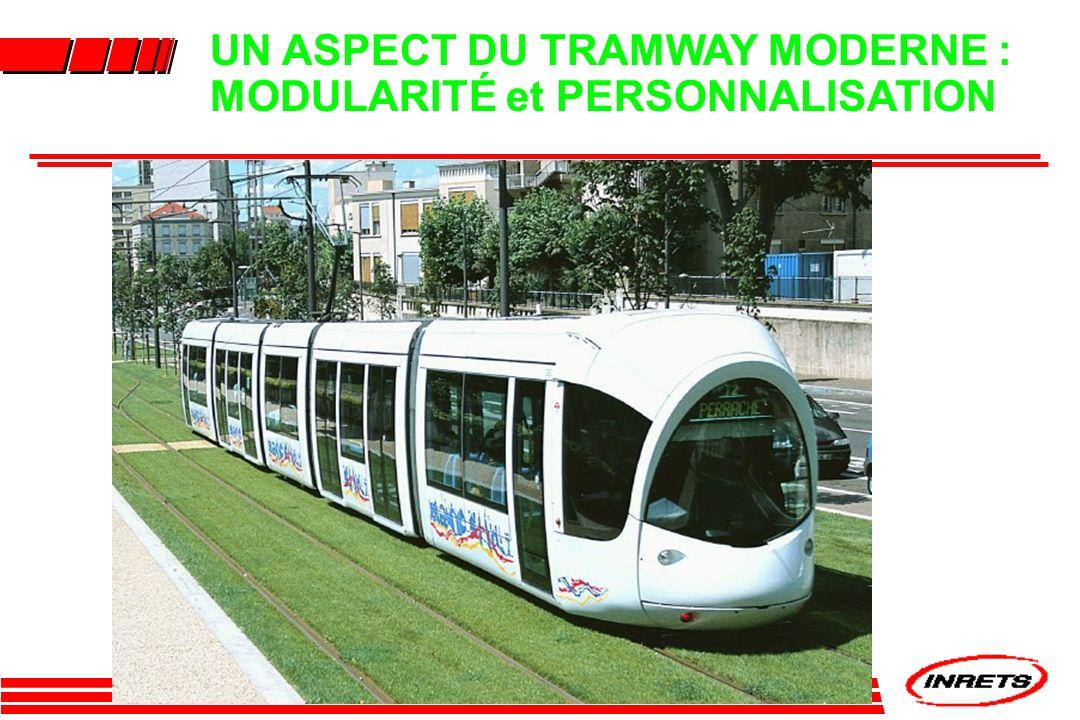 UN ASPECT DU TRAMWAY MODERNE : MODULARITÉ et PERSONNALISATION
