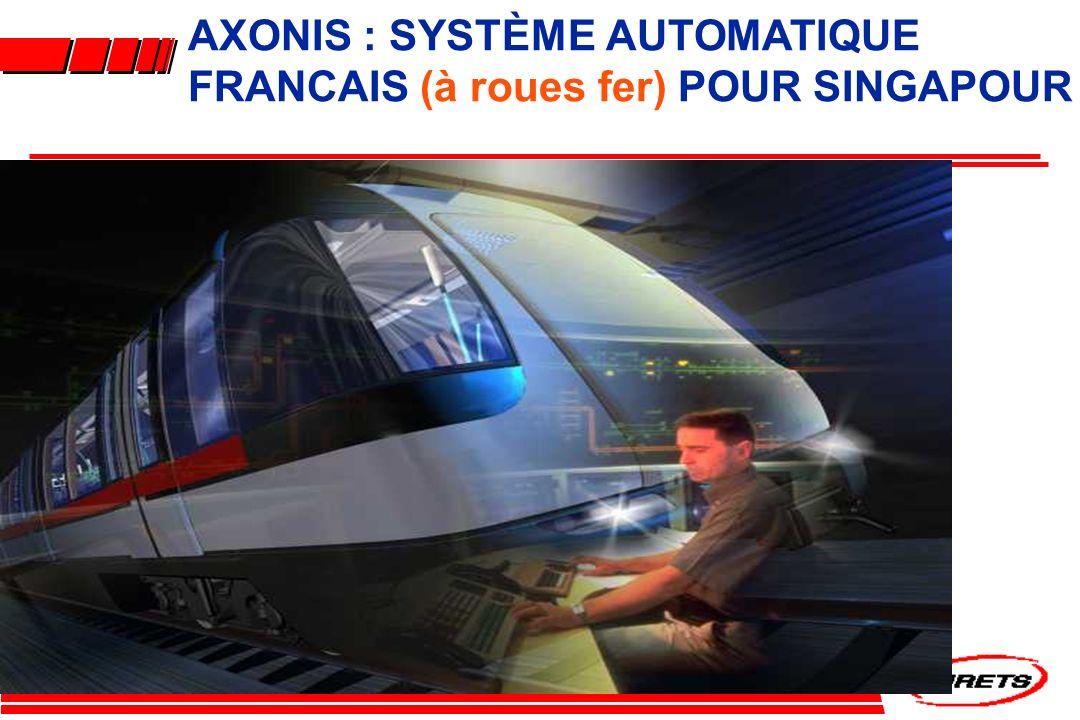 AXONIS : SYSTÈME AUTOMATIQUE FRANCAIS (à roues fer) POUR SINGAPOUR