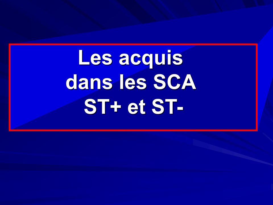 Best-of 2004 des valvulopathies Les acquis dans les SCA ST+ et ST-