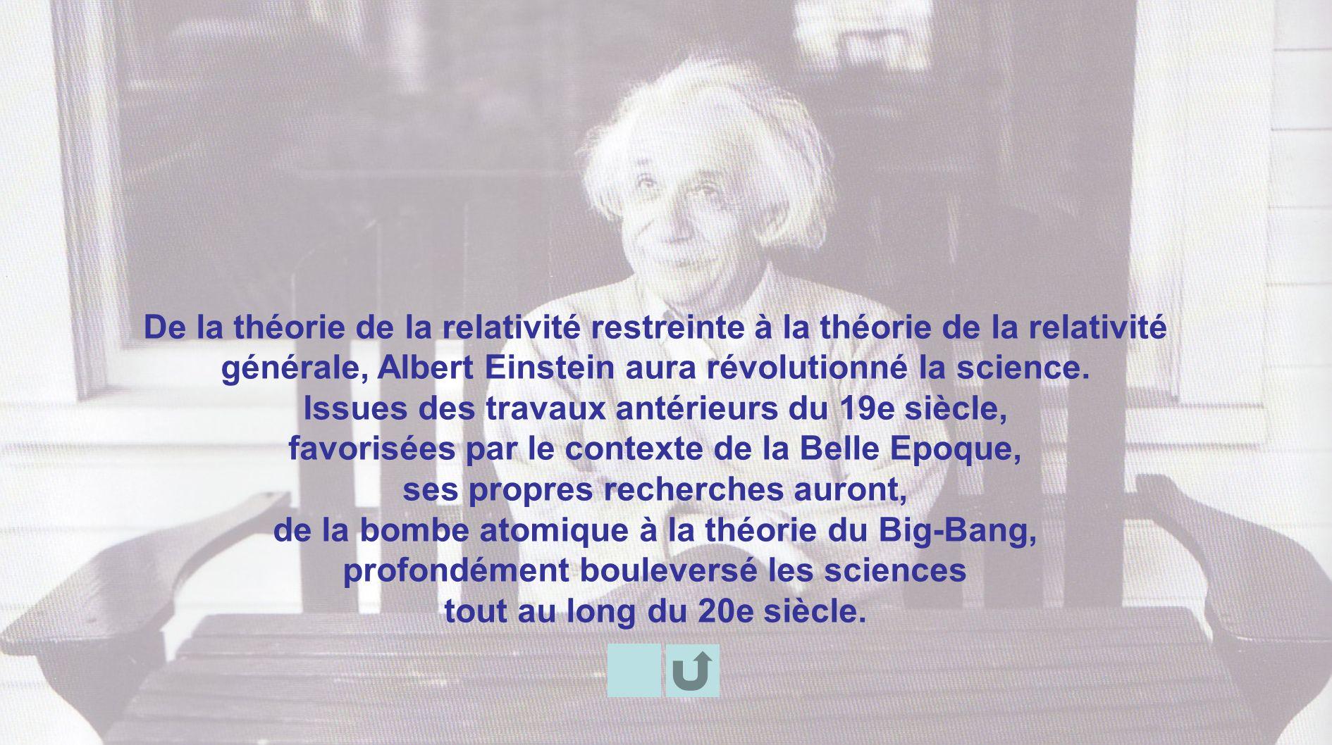 De la théorie de la relativité restreinte à la théorie de la relativité générale, Albert Einstein aura révolutionné la science. Issues des travaux ant