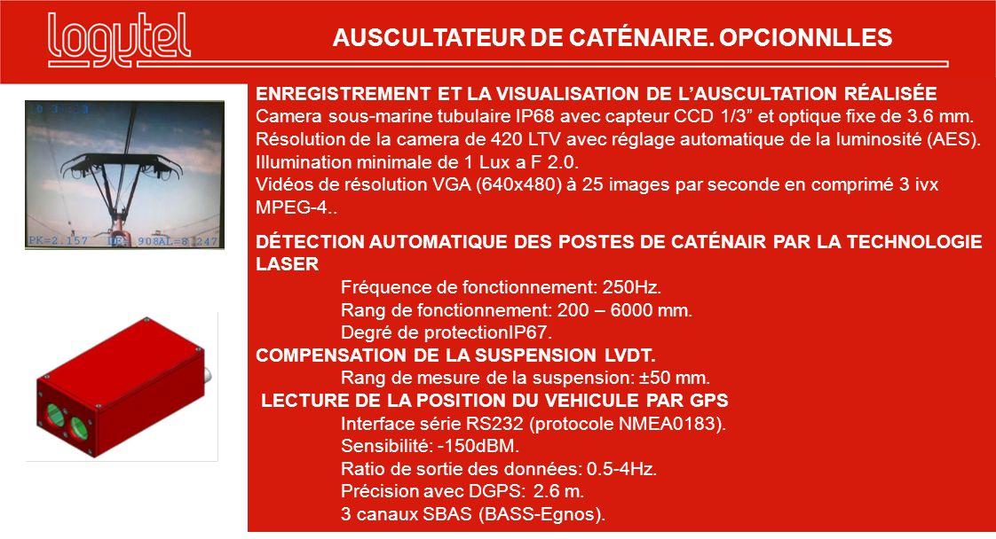 ENREGISTREMENT ET LA VISUALISATION DE LAUSCULTATION RÉALISÉE Camera sous-marine tubulaire IP68 avec capteur CCD 1/3 et optique fixe de 3.6 mm. Résolut