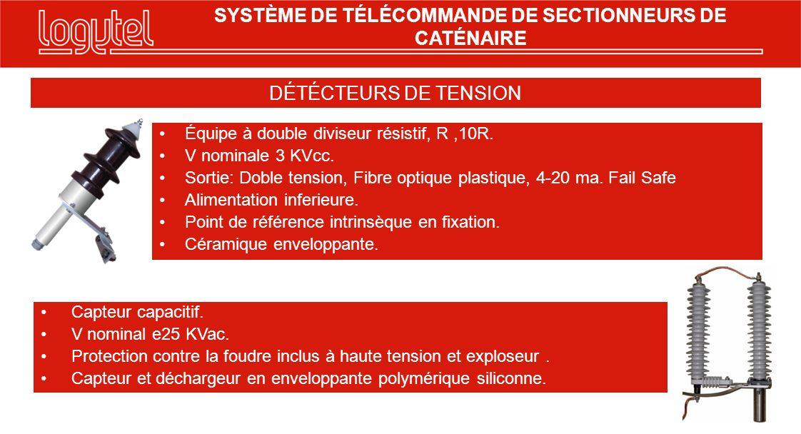 Capteur capacitif. V nominal e25 KVac. Protection contre la foudre inclus à haute tension et exploseur. Capteur et déchargeur en enveloppante polyméri