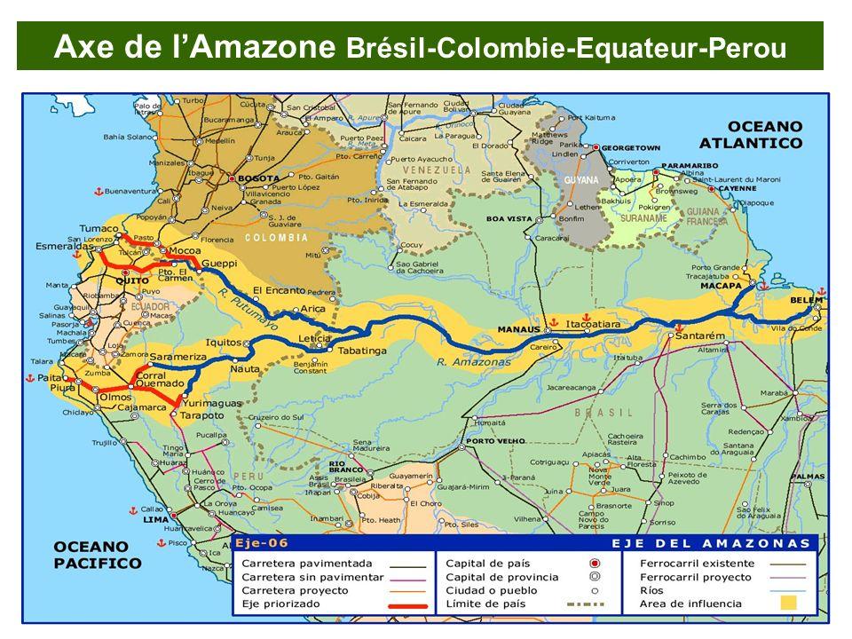 Axe de lAmazone Brésil-Colombie-Equateur-Perou